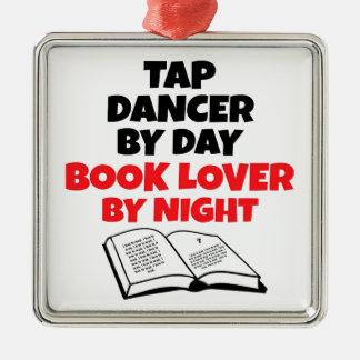 Book Lover Tap Dancer Metal Ornament