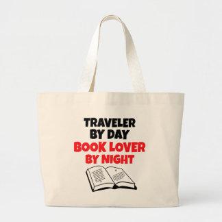Book Lover Traveler Large Tote Bag
