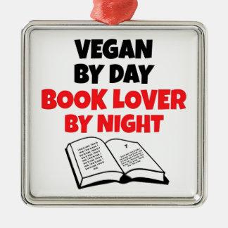 Book Lover Vegan Metal Ornament