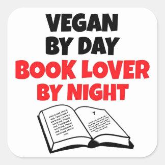 Book Lover Vegan Square Sticker