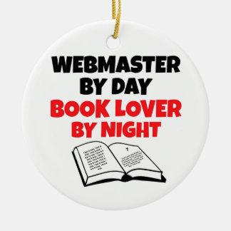 Book Lover Webmaster Ceramic Ornament