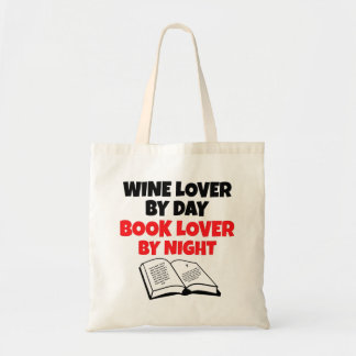 Book Lover Wine Lover Tote Bags