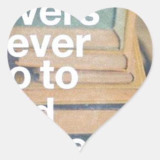 Book lovers - Amantes de Livros Adesivo De Coração
