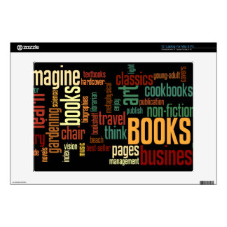 """Book Lovers Autumn Colorful Text 13"""" Laptop Skin"""