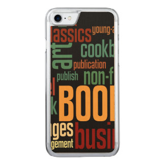 Book Lovers Autumn Colorful Text Carved iPhone 7 Case