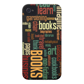 Book Lovers Autumn Colorful Text Case-Mate iPhone 4 Case
