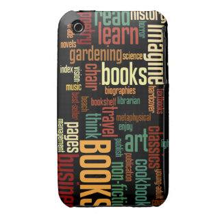 Book Lovers Autumn Colorful Text Case-Mate iPhone 3 Case