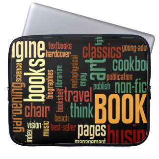 Book Lovers Autumn Colorful Text Computer Sleeve