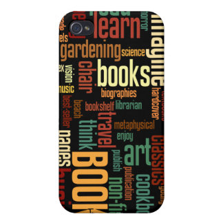 Book Lovers Autumn Colorful Text iPhone 4 Cases