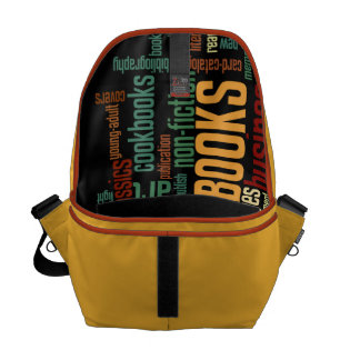 Book Lovers Autumn Colorful Text Messenger Bags