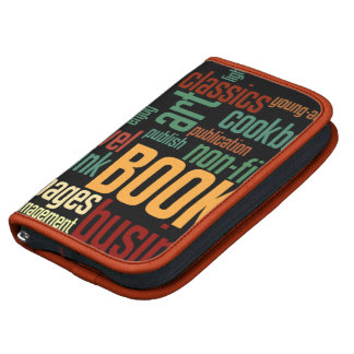 Book Lovers Autumn Colorful Text Folio Planner