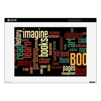Book Lovers Autumn Colorful Text Skins For Laptops