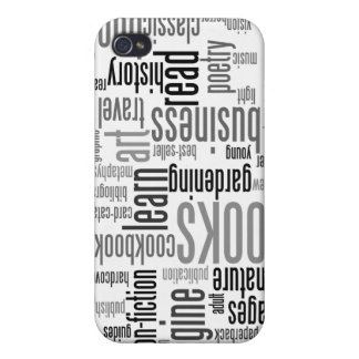 Book Lovers Black & White ®  iPhone 4 Covers
