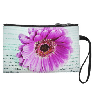 Book Lovers Book and Flower Wristlets