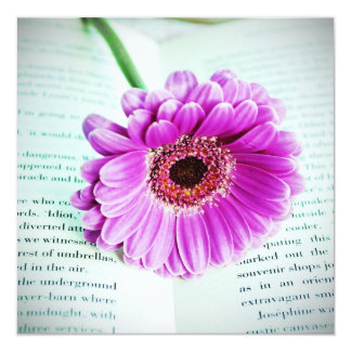 Book Lovers Book and Flower Card