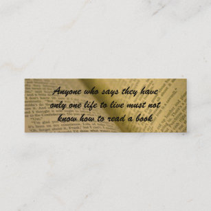 Book lover business cards zazzle book lovers bookmark mini business card reheart Images