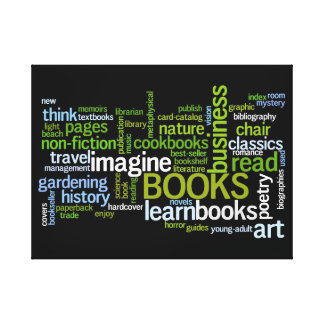 Book Lovers Favorite Genres Library Canvas