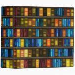 Book Lovers & Librarians Colorful Books on Shelf Vinyl Binder