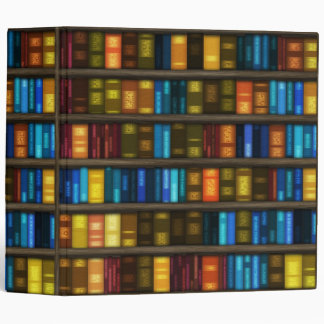 Book Lovers & Librarians Colorful Books on Shelf Binder