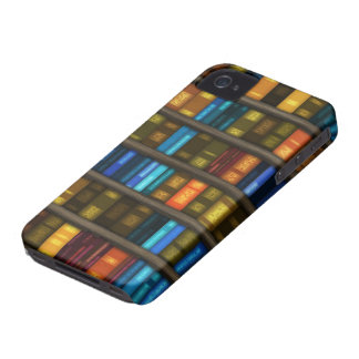 Book Lovers & Librarians Colorful Books on Shelf iPhone 4 Cover