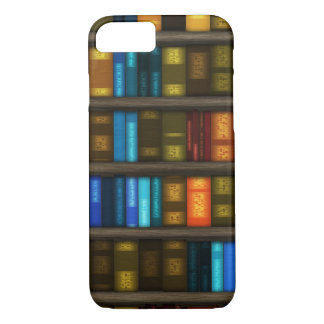 Book Lovers & Librarians Colorful Books on Shelf iPhone 7 Case