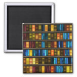 Book Lovers & Librarians Colorful Books on Shelf Refrigerator Magnet