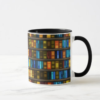 Book Lovers & Librarians Colorful Books on Shelf Mug
