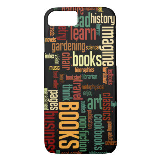 Book Lovers Lingo in Rust and Green iPhone 8/7 Case