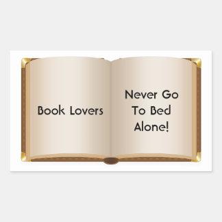 Book Lovers Never Alone Rectangular Sticker