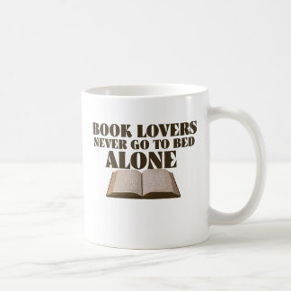 Book lovers never go to bed alone classic white coffee mug