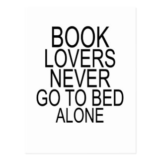 Book lovers never go to bed alone T-Shirts.png Postcard