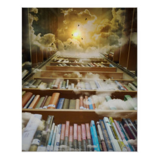 Book lovers retreat paradise library poster
