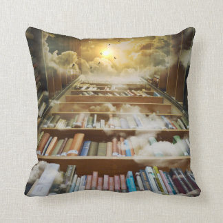 Book lovers retreat paradise library throw pillow