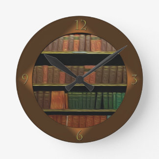Book Lover's Round Clock