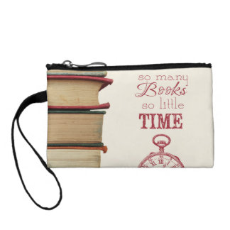 """book lovers wristlet """"So Many Books"""""""