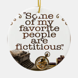 Book Lovers / Writers & Authors Ceramic Ornament