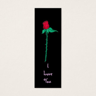 Book Mark -Rose- I Love You Mini Business Card