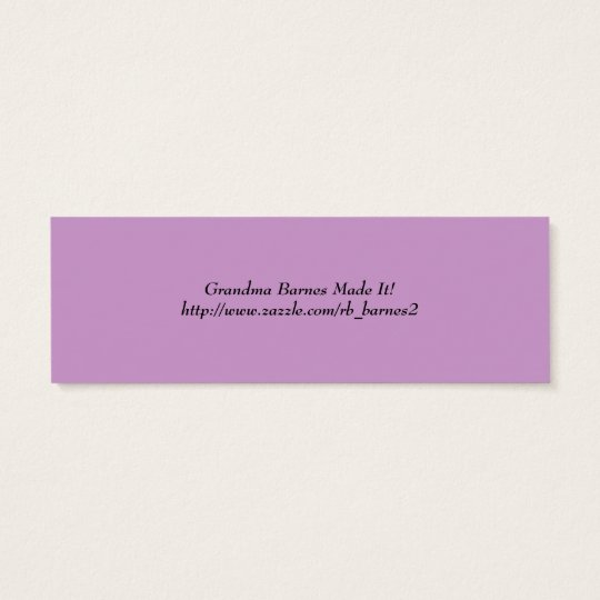 Book Marker After All That Is Said.... Mini Business Card