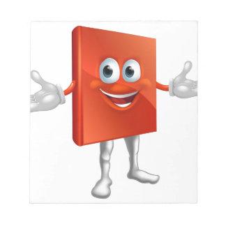 Book mascot education character memo note pads