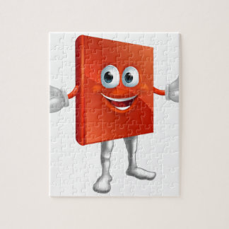 Book mascot education character jigsaw puzzle