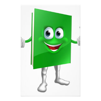 Book mascot education concept customised stationery
