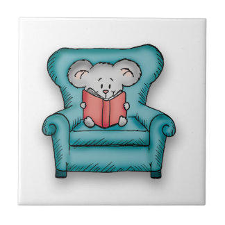 Book Mouse - Gift for someone who loves to read Tiles