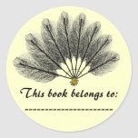 Book Name Plate Sticker (Fantasy Feather Mask)
