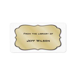 Book Nameplate Labels