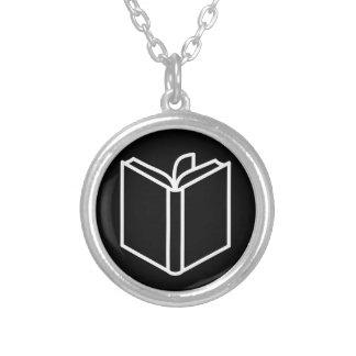 Book Round Pendant Necklace