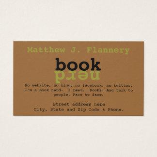 Book Nerd Business Card