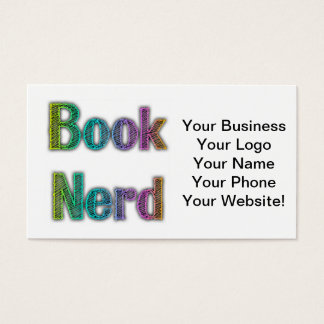 Book Nerd Colors Business Card