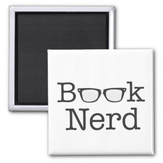 Book Nerd Funny Spectacles Text 2 Inch Square Magnet