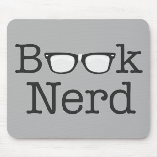 Book Nerd Funny Spectacles Text Mouse Pad