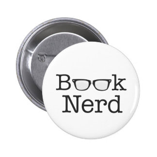 Book Nerd Funny Spectacles Text Pinback Button